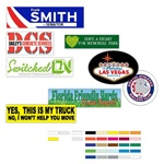 Custom Window Stickers & Bumper Stickers