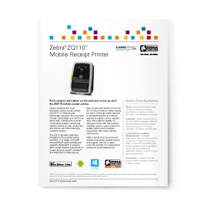 Zebra-Mobile-Zq110-datasheet